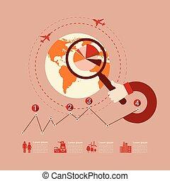 grafiek, set, milieu, diagram, infographic, pictogram, zakelijk, tabel