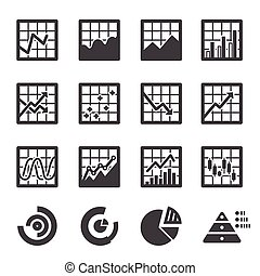 grafiek, set, pictogram