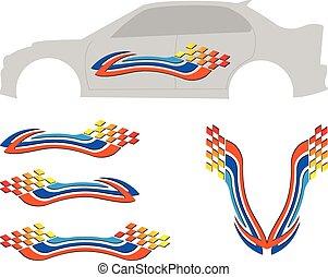 grafiek, streep, voertuig, gereed, :, vinyl
