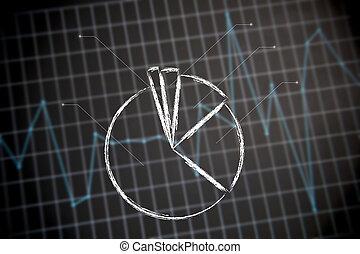 grafiek, tabel, financieel, pastei, achtergrond, (of, stats)