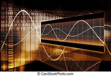 grafiek, technologie, financiën, spreadsheet