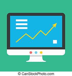 grafiek, vector, display, pictogram