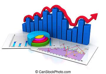 grafiek, zakelijk
