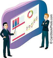 grafiek, zakenlui