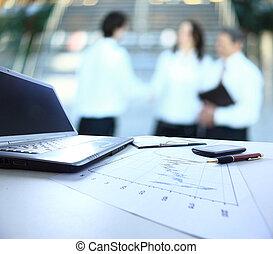grafieken, diagrammen, zakelijk, tafel., th