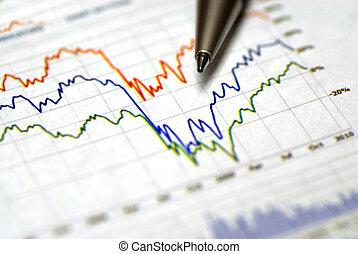 grafieken, voor, financieel, of, beursmarkt, diagrammen