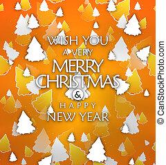 grafik, Bäume, hintergrund, abbildung, Weihnachten