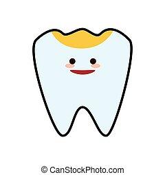 grafik, dentale, tand, hygiejne, vektor, sundhed, icon., omsorg