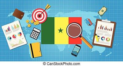 grafik, finanz, land, afrikas, tabelle, abbildung, senegal, vektor, wirtschaftlich, schaubild, werkzeuge, bedingung, wirtschaft