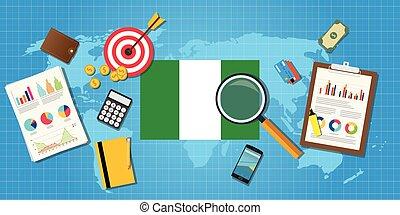 grafik, finanz, land, afrikas, tabelle, abbildung, vektor, wirtschaftlich, schaubild, nigeria, werkzeuge, bedingung, wirtschaft