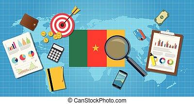 grafik, finanz, land, kamerun, afrikas, tabelle, abbildung, vektor, wirtschaftlich, schaubild, werkzeuge, bedingung, wirtschaft
