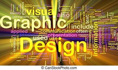 grafik formge, bakgrund, begrepp, glödande