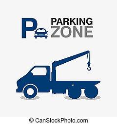 grafik formge, zon, parkering
