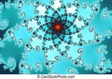 grafik, fractal