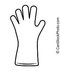 grafik, garten arbeitender handschuh, vektor, icon., design.