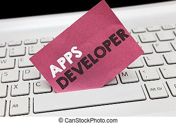 grafik, geschaeftswelt, developer., künstler, foto, ausstellung, apps, schreibende, begrifflich, experten, showcasing, programmierer, hand, analytiker, software