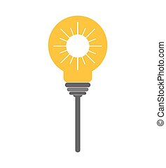 grafik, magt, lys, energi, vektor, icon.., pære