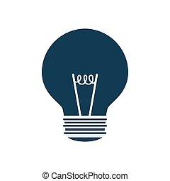 grafik, magt, lys, energi, vektor, pære, icon.