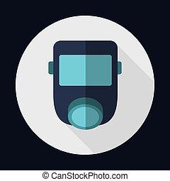 grafik, maske, luft, vektor, sicherheit, industrie, sicherheit, icon.