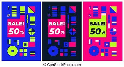 grafik, plakat, freitag, verkauf, design, schwarz, tamplate...