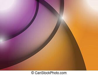 grafik, purpurrote zeilen, abbildung, welle, orange