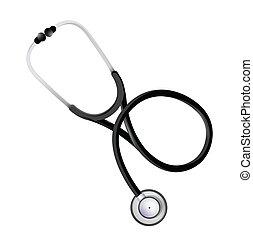 grafik, stethoskop