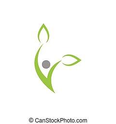 grafik, wellness, illustration, element, vektor, konstruktion, skabelon, sundhed
