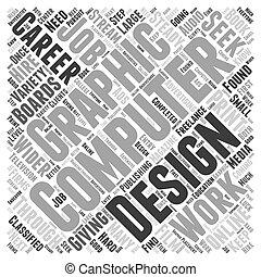 grafik, wort, begriff, design, edv, wolke