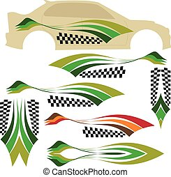 grafika, vonal, jármű, hajlandó, :, vinyl