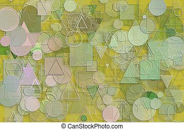 grafikus, derékszögben, &, motívum, kivonat alakzat, artistic., dolgozat, stroke., tervezés, sablon
