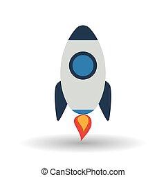 grafikus, rakéta, ábra, vektor, tervezés