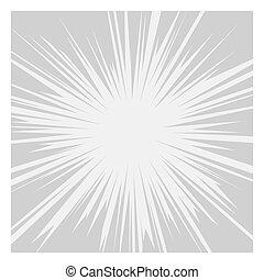 grafisch, komieken, lijnen, effects., vector, radiaal, snelheid