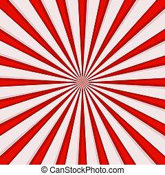 grafisch, komieken, lijnen, effects., vector, radiaal, snelheid, rood