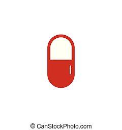 grafisch, medisch, capsule, vector, ontwerp, mal