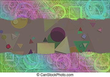 &, grafisch, model, abstract, leeg, title., vorm, generative, achtergrond, digitale , onderschrift, naam, of, creativity.