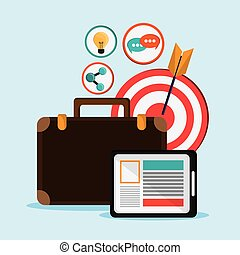 grafisch, netwerk, set., vector, sociaal, design., pictogram