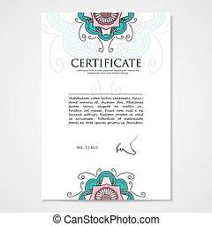 grafisch, ornament, hand, ontwerp, mal, floral, getrokken, document
