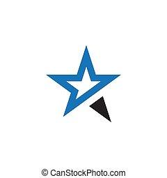 grafisch, ster, vector, ontwerp, mal, logo, pictogram
