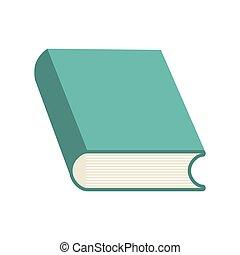 grafisch, vector, leren, icon., het boek van de lezing