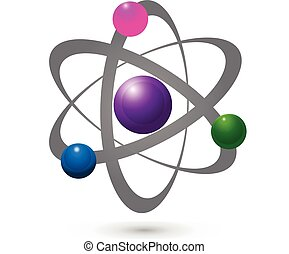 grafisk, elektron, vektor, atom, molekylar, ikon