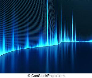 grafisk, ljud