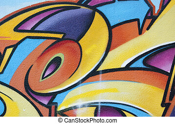 grafiti, abstraktní, barvy