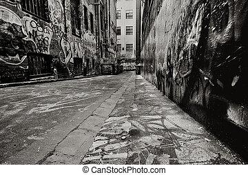 grafiti, callejón