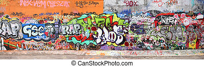 grafiti, panoráma