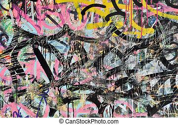 Grafitti Colorful Background on Wall