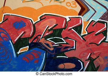 Grafitti - Graffiti - nice piece of street art on the wall