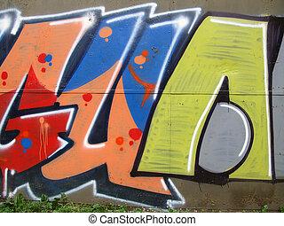 Grafitti - Grafitti wall art in the Moscow, Russia...