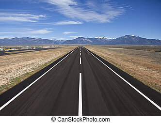 grafschaft, ländlich, flughafen, startbahn