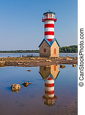 Grafton Lighthouse in Illinois