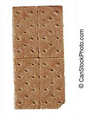 Graham cracker - A standard graham cracker isolated on white